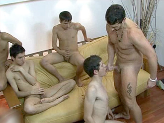 4 nude boys have sex with older man