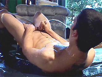 Young naked boys pissing fun