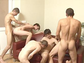 Gay boy orgy