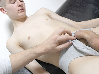 Naked boy in his first POV session