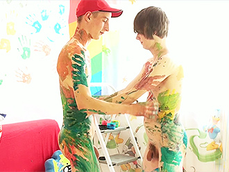 Gay boys body paint