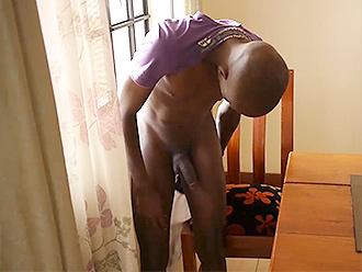 Nude black boy